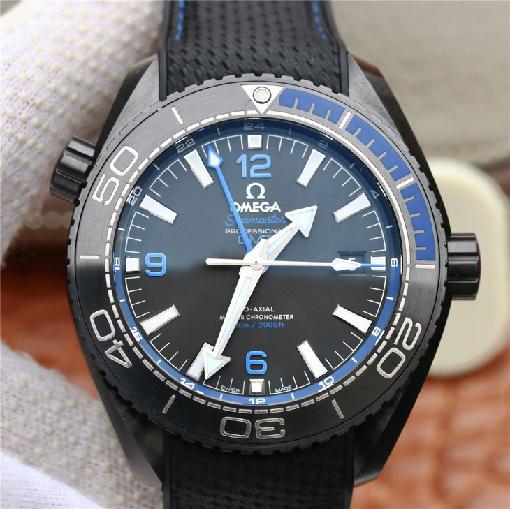 Omega Deep Black Blue Watch