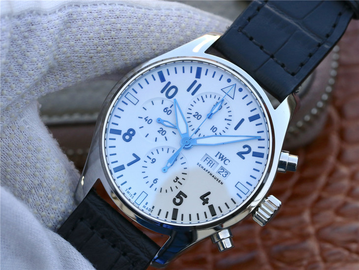 Replica IWC Pilot Chrono Blue