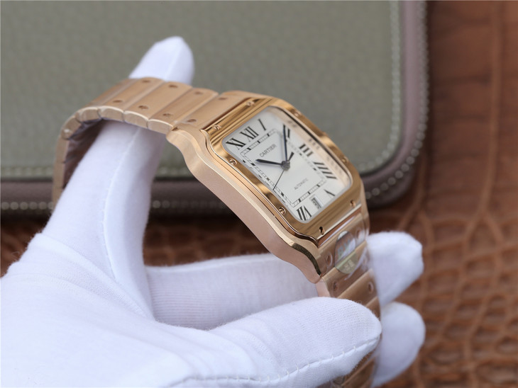 Cartier Santos 100 XL Rose Gold Case