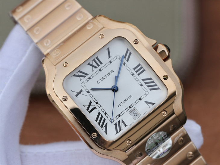Replica Cartier Santos 100 Rose Gold