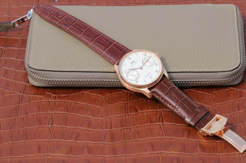 Replica IWC IW500701 Brown Leather Strap
