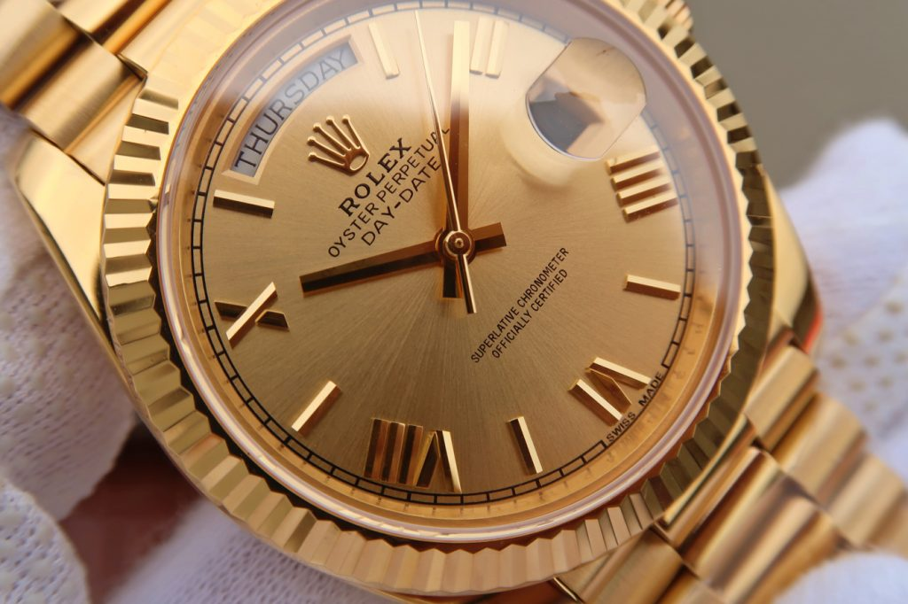 Replica Rolex Day-Date 40mm Gold Dial