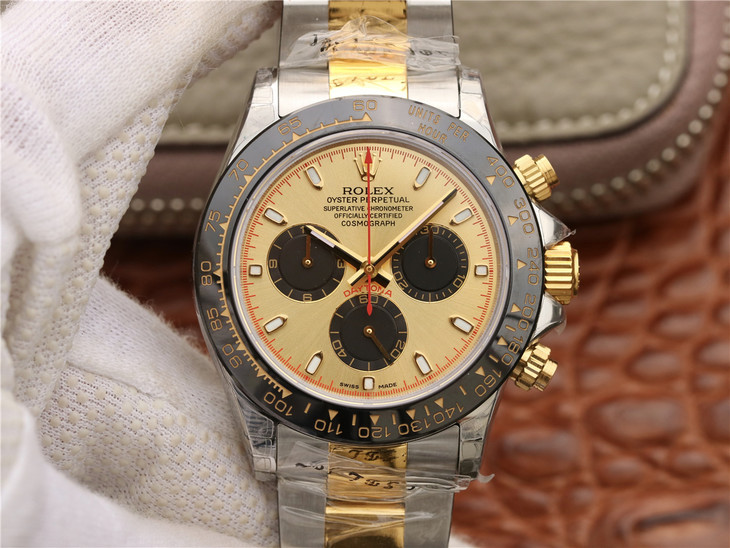 Replica Rolex Daytona Two Tone Golden Dial