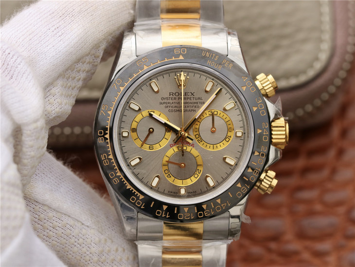 Replica Rolex Daytona Two Tone Grey Dial
