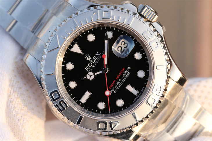 Replica Rolex YachtMaster Black Dial