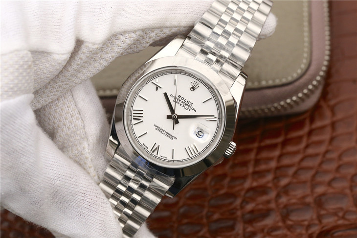 Rolex Datejust White Steel Replica