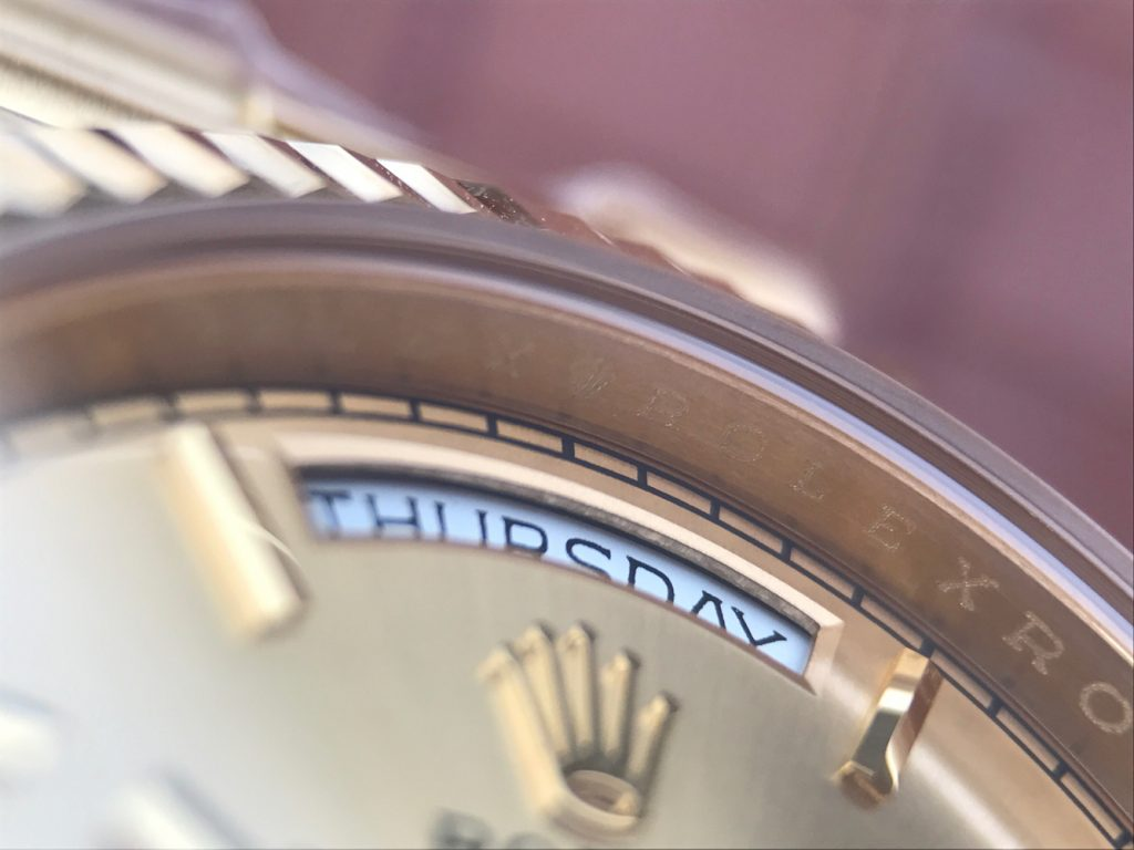 Rolex Day-Date Rehaut