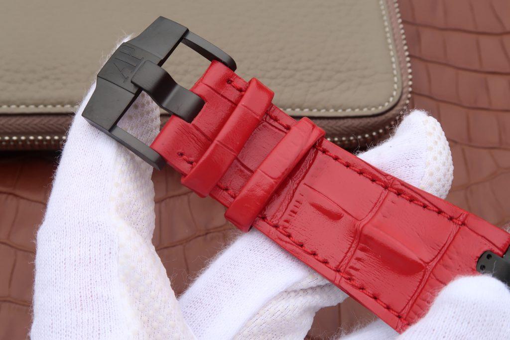 Audemars Piguet Survivor Red Leather Strap