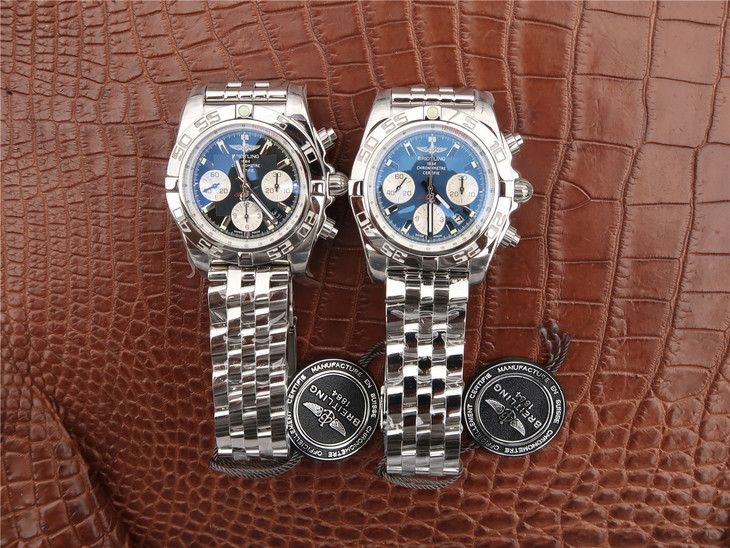 Breitling Chronomat B01 Black and Blue Watches