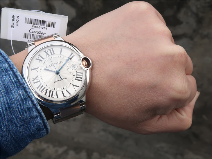 Cartier Ballon Bleu Two Tone Wrist Shot