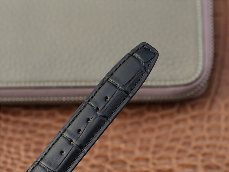 IWC Portuguese Tourbillon Black Leather Strap