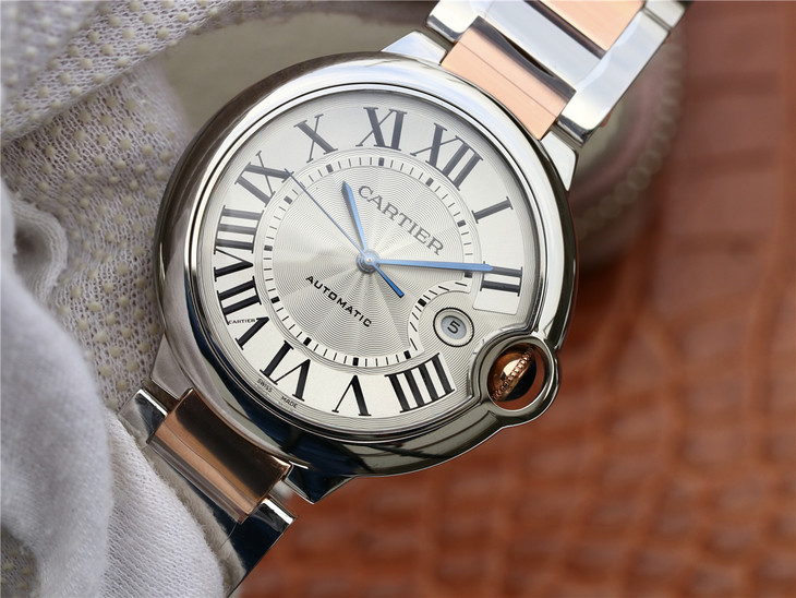 Replica Cartier Ballon Bleu Rose Gold 42mm