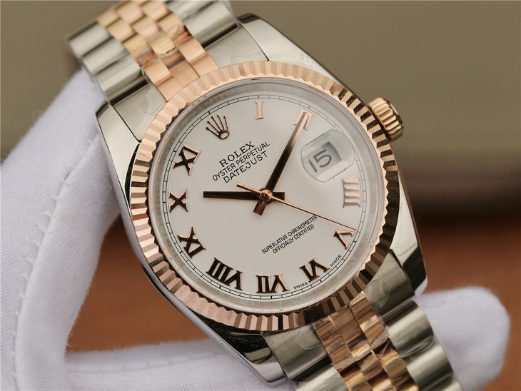Replica Rolex Datejust Pearl White Dial