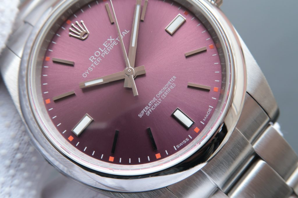 Replica Rolex Oyster Perpetual Grape Dial