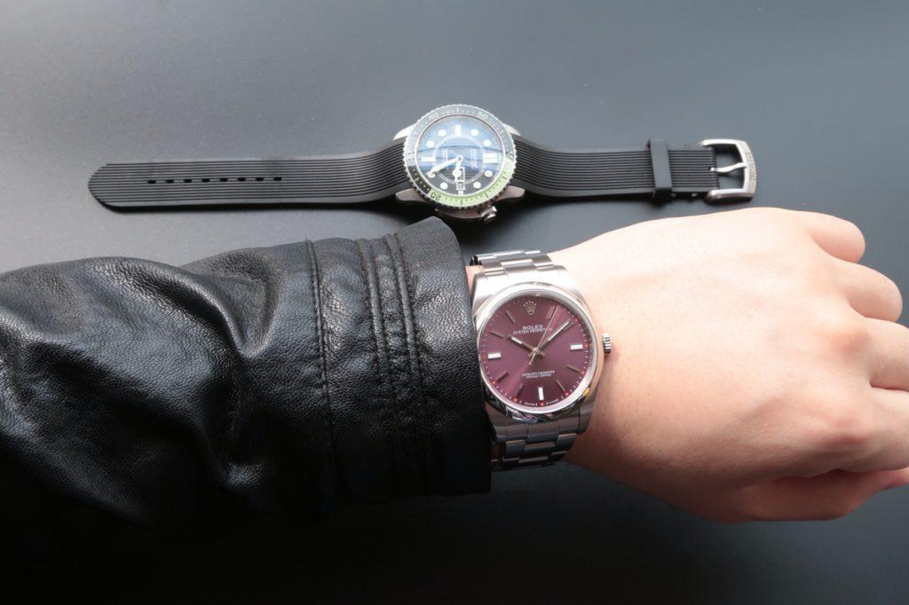 Rolex Oyster Perpetual 114300 Wrist Shot