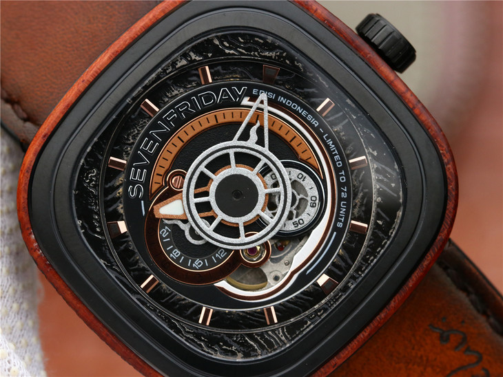 SevenFriday Wood Watch Dial