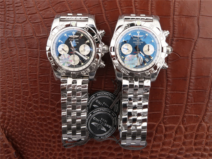 Two Breitling Chronomat B01 Replica Watches