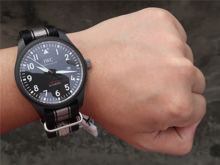 IW326901 Black and Grey Nylon Strap