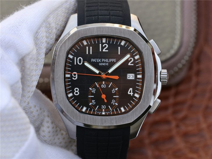 Replica Patek Philippe Aquanaut Chrono Black