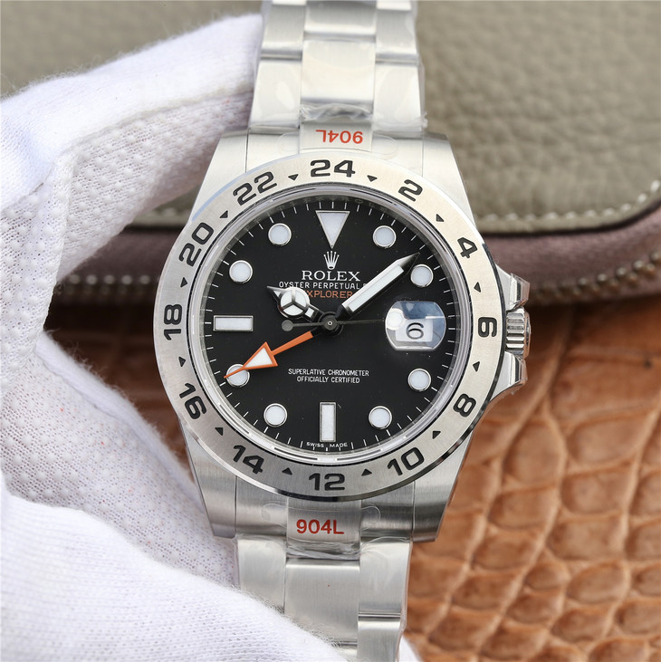 Replica Rolex Explorer II Black