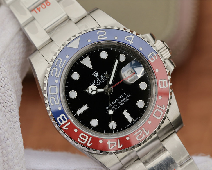 Replica Rolex GMT-Master II Black Dial