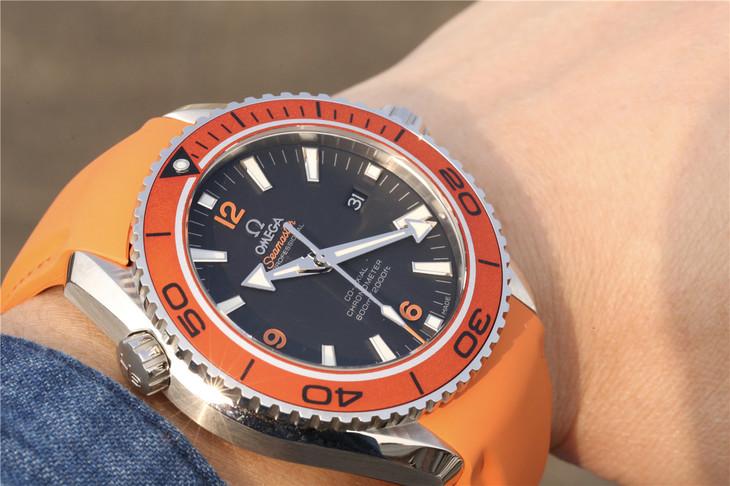 Omega Orange Planet Ocean Wrist Shot