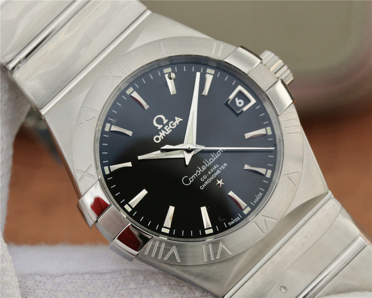 Replica Omega Constellation Black Dial
