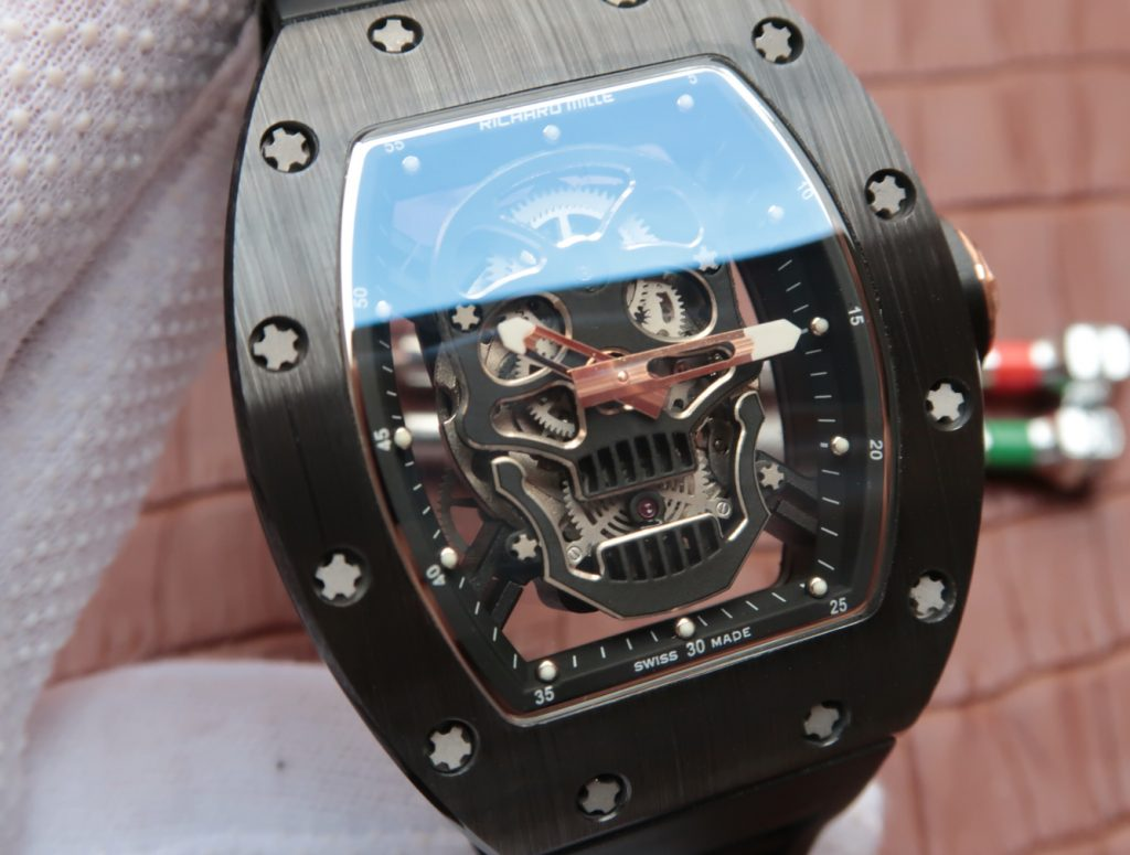 Replica Richard Mille Skull Skeleton Dial