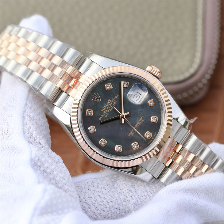 Replica Rolex Datejust 36mm Rose Gold
