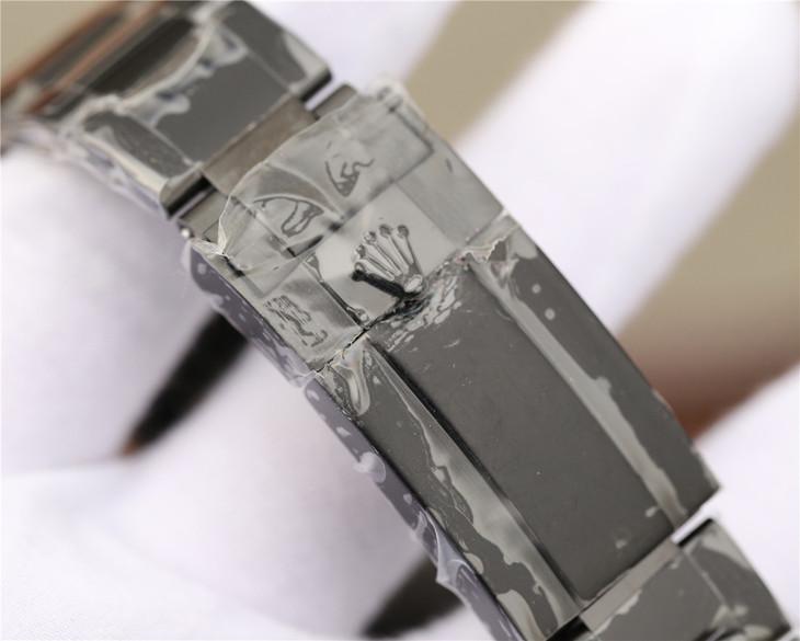 Replica Rolex Daytona PVD Black Bracelet