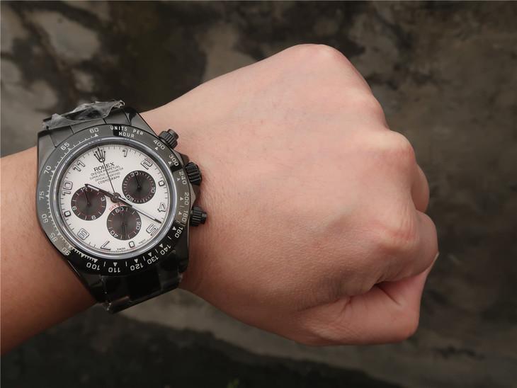 Rolex Daytona PVD Black Wrist Shot