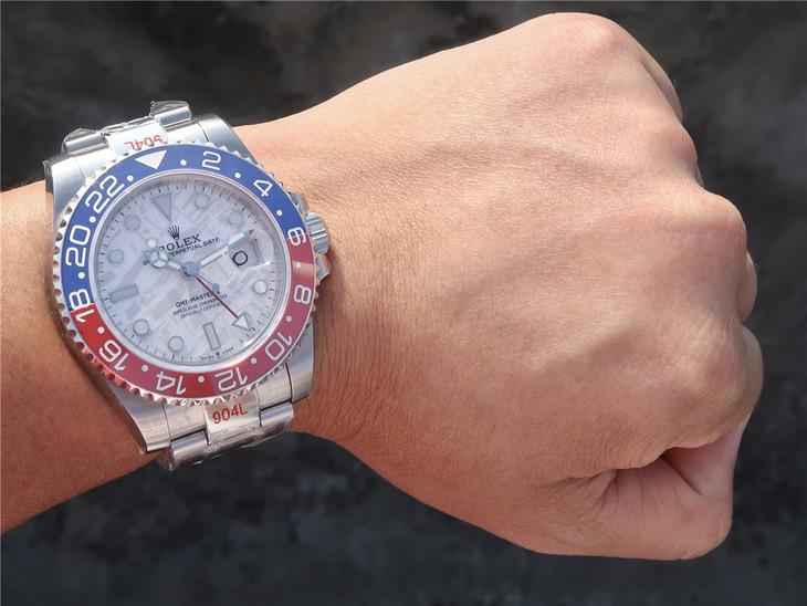 Replica Rolex GMT-Master II Meteorite Wrist Shot
