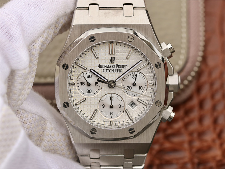 Audemars Piguet Royal Oak Chronograph White Dial