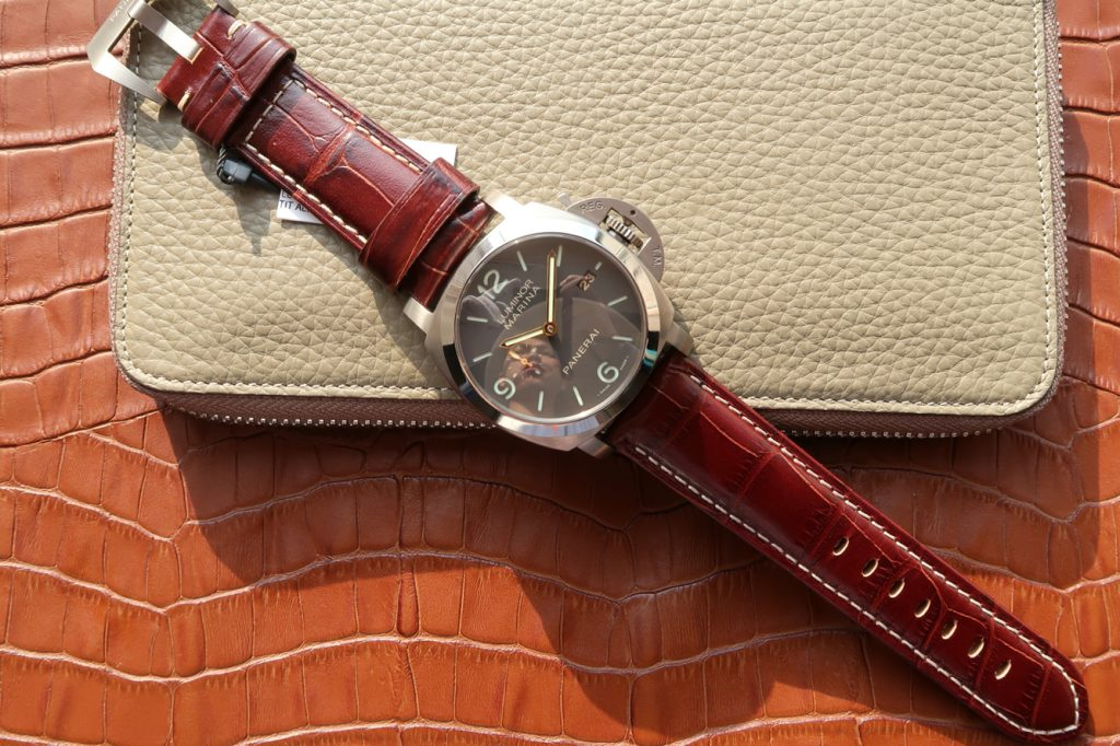 PAM 351 with Brown Leather Strap