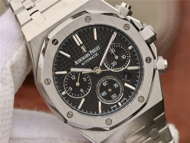 Replica Audemars Piguet Royal Oak Chrono Black Dial