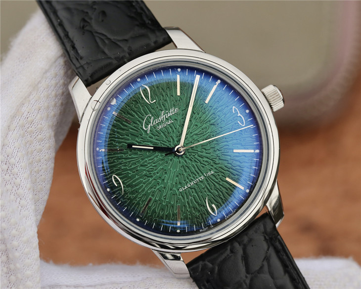 Replica Glashutte Green Dial