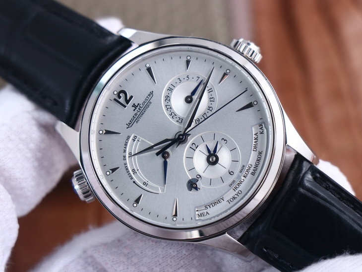 Replica Jaeger Lecoultre Geographic Silver Dial