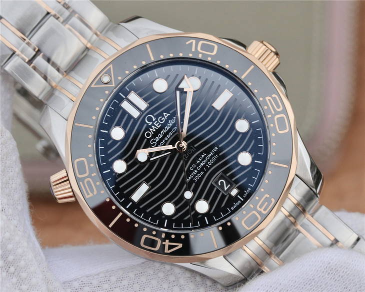 Replica Omega Seamaster Diver Black Dial