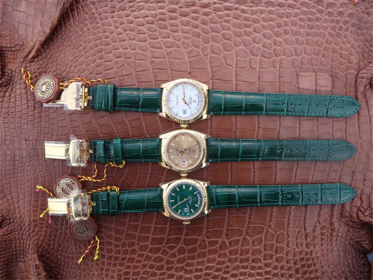 Replica Rolex Day-Date Green Watch Collection
