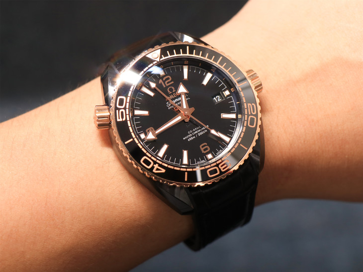 Omega Deepsea King Black Wrist Shot