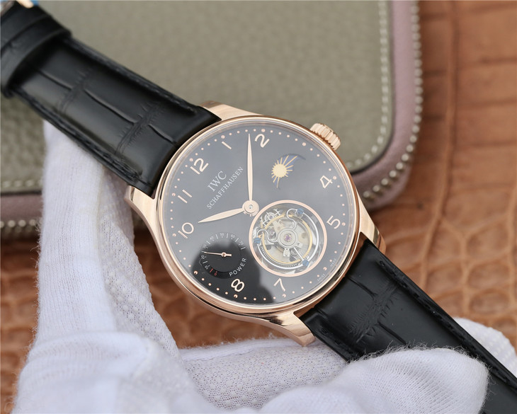 Replica IWC Portuguese Rose Gold Tourbillon