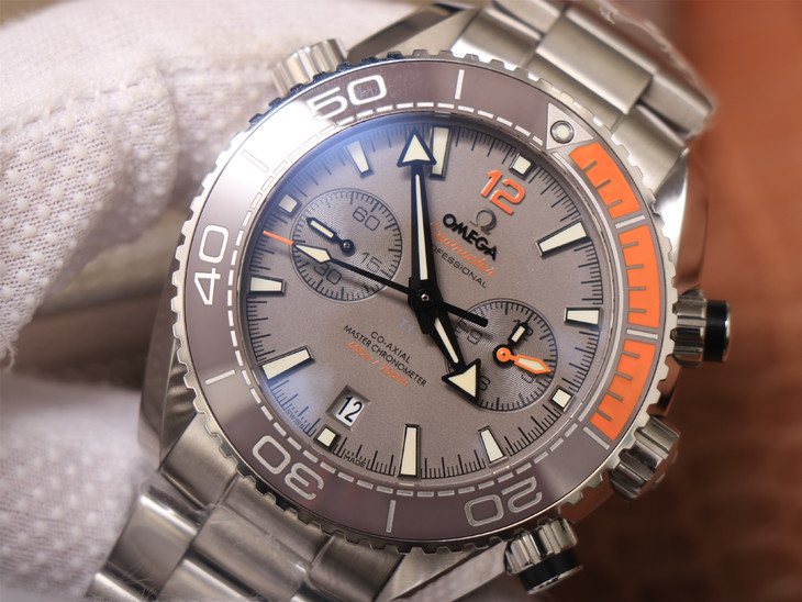 Replica Omega Planet Ocean Chrono Grey Dial