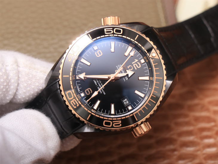 Replica Omega Planet Ocean Rose Gold Black