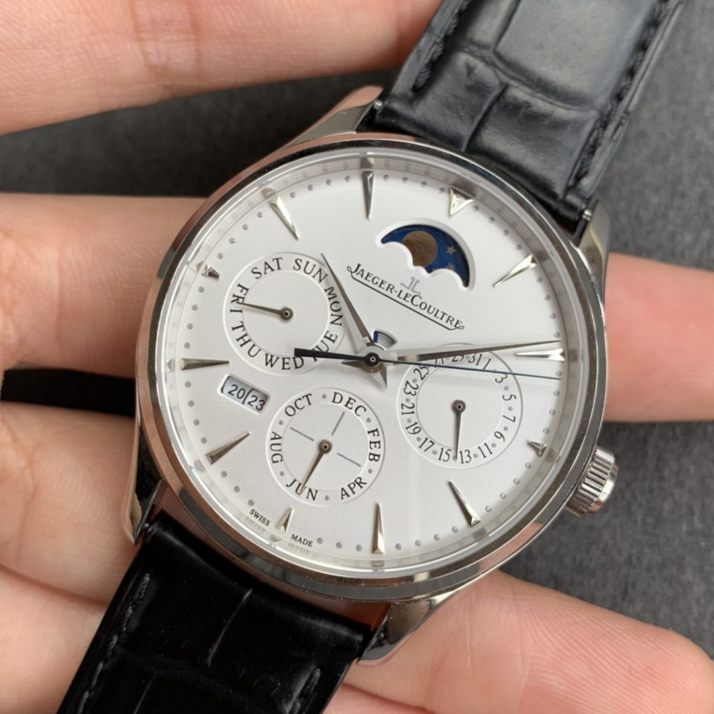 Replica Jaeger LeCoultre Perpetual Calendar Stainless Steel