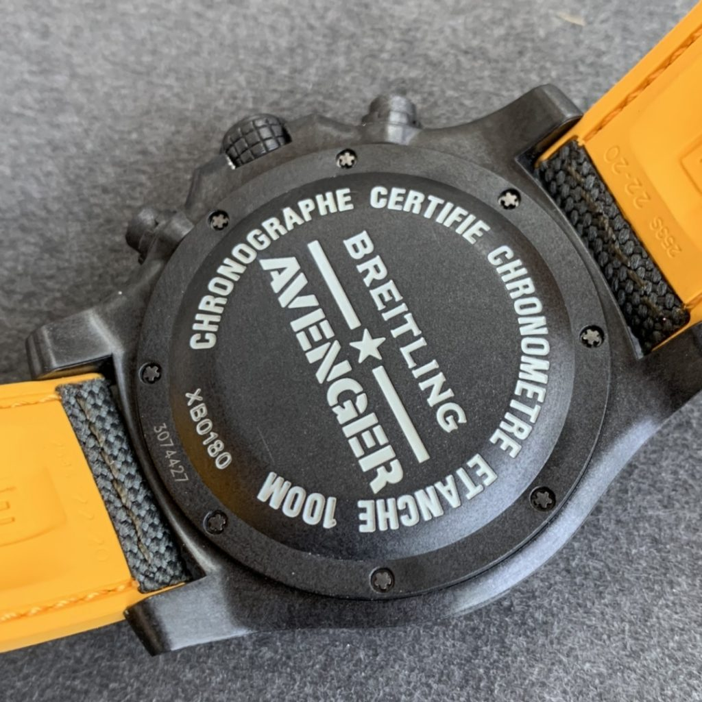 Replica Breitling Avenger Hurricane Case Back