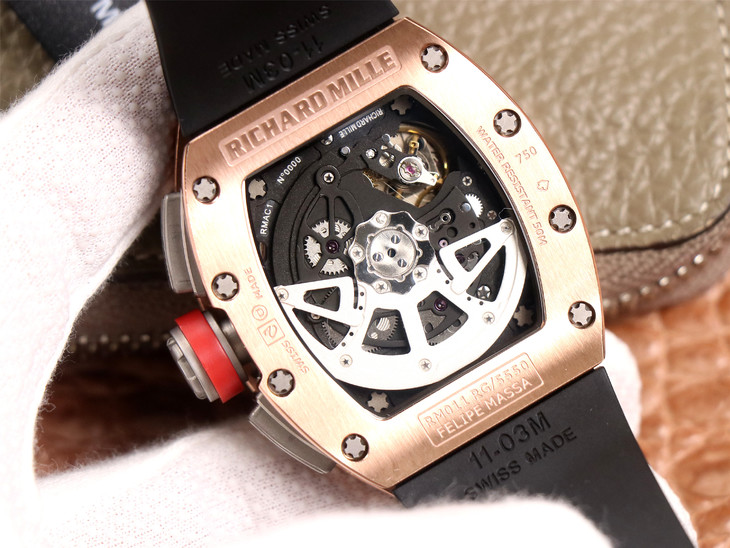 Replica Richard Mille RM011-03 Crystal Back