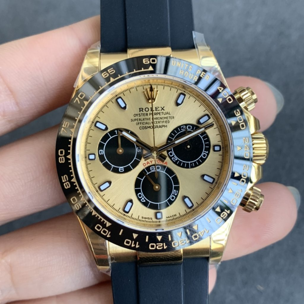 Noob Replica Rolex Daytona Yellow Gold Watch