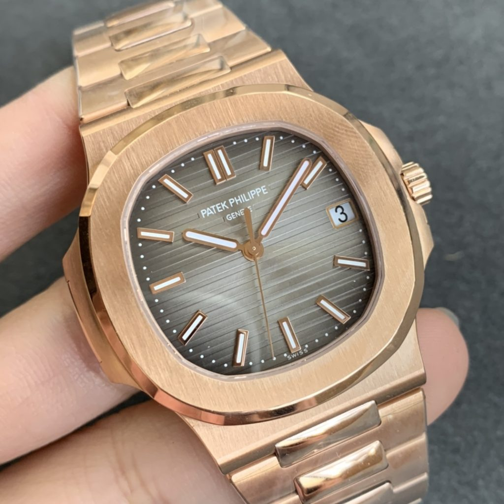 PPF Replica Patek Philippe Nautilus Rose Gold