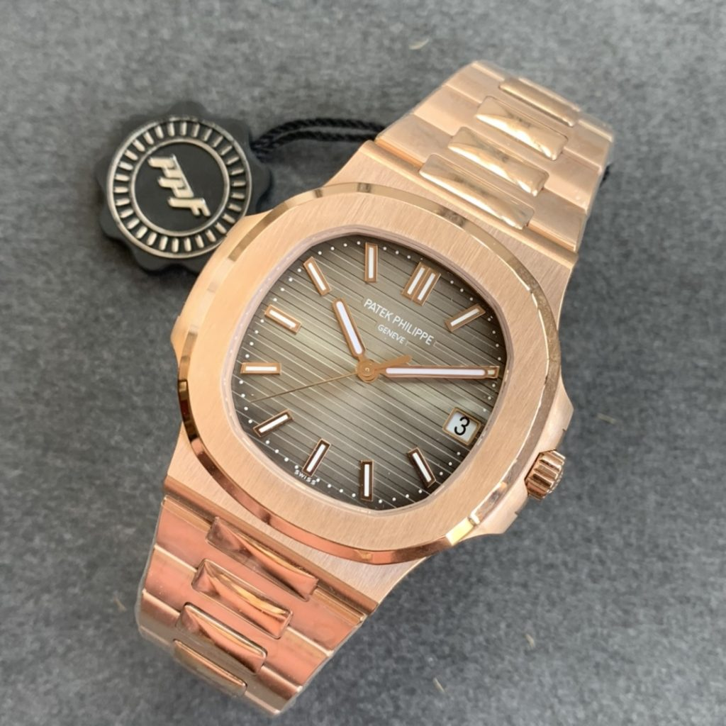 Replica Patek Philippe Rose Gold Nautilus Watch from PPF