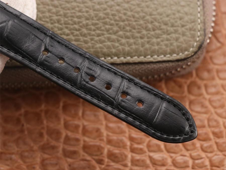 Parmigiani Kalpa Hebdomadaire Black Leather Strap